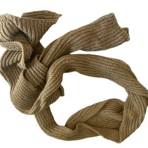 Light Brown Knitted Scarf Woman's Winter Warm